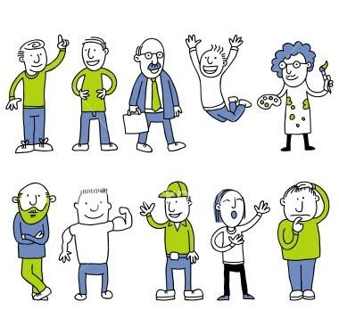 Cartoon Men